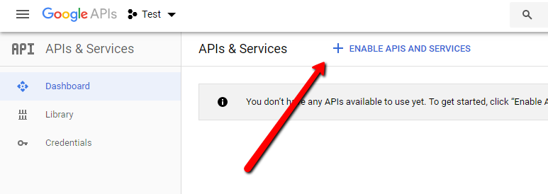 Enable API&Services